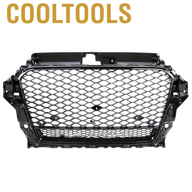 Duokon ABS Plastic Car Front Bumper//Hood Grille//Center Grill for A3//S3 8V 2017 2018 2019