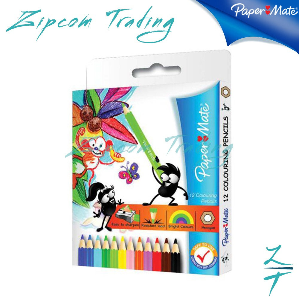 Papermate Colouring pencils -12s & 24s