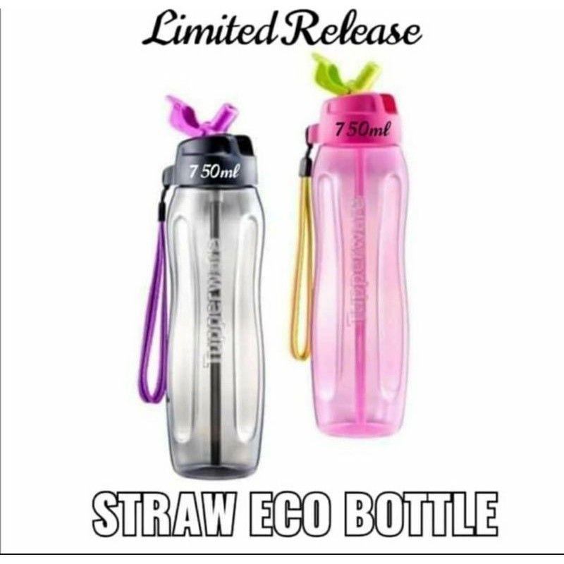 💥READY STOCK💥 Original Tupperware Slim Eco Bottle with Straw (1) 750ml