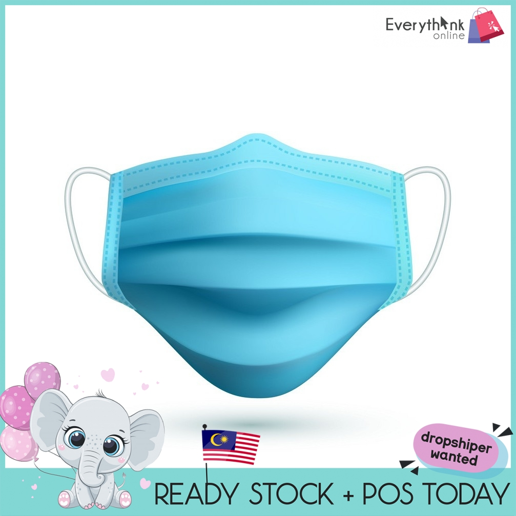 [ONE PACK 10PCS] REEDEE EARLOOP SURGICAL FACE MASK DISPOSABLE 3 PLY MEDICAL MASH ANTI DUST ANTI EXHAUST ANTI STIVE