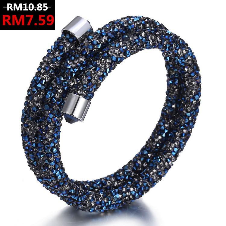 b6de034405828 Luxury Double Cuff Charm Crystal Bracelets & Bangles Jewelry