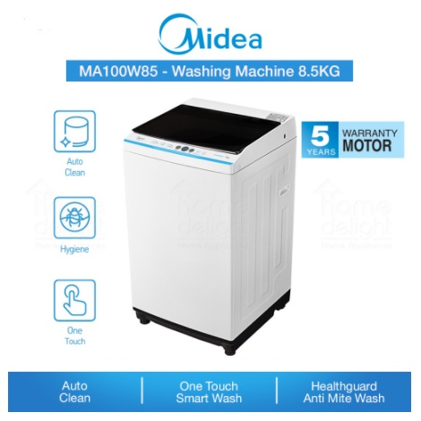 [FREE INSTALLATION] Midea Washing Maching 8.5KG Anti-Mite Wash MA100W85