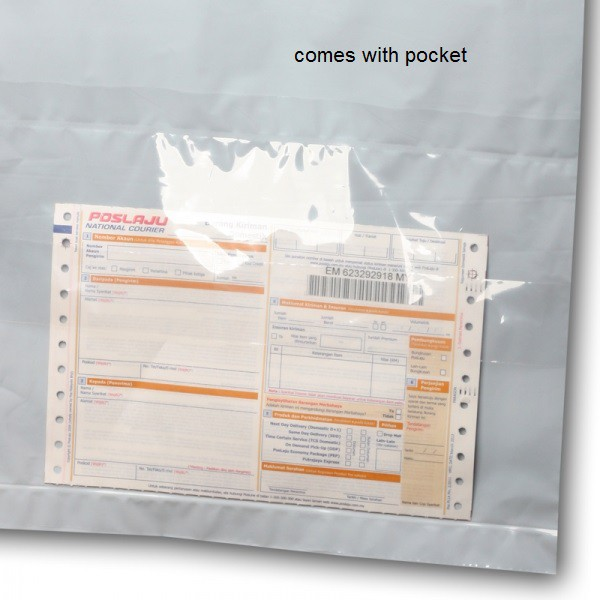 A5 Size Courier Bag/ Packing Bag/ Flyer with Pocket White (10pcs/ pack)