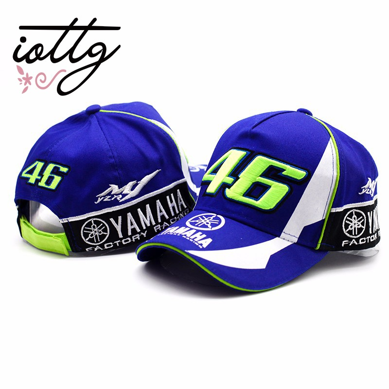 8fd3d41fefc VR-46 Yamaha Racing Cap Sport Locomotive Cap Two Diaozhen 46 Under White  Wheel Y-M-H