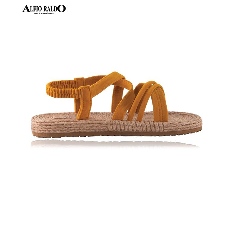 Alfio Raldo Easy Wear Open Toe Yellow Sandal