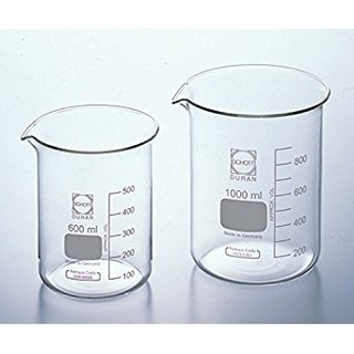 DURAN 250 ml Glass Beaker Low Form With Spout Boiling Flask Laboratory  Glassware