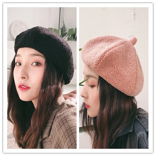 f4333b7f9 Beret New Korean japan edition painter Hat pumpkin hat bud octagonal hat