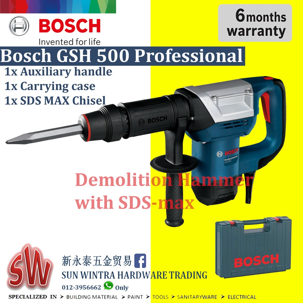 BOSCH GSH500 Demolition Hammer with Hex