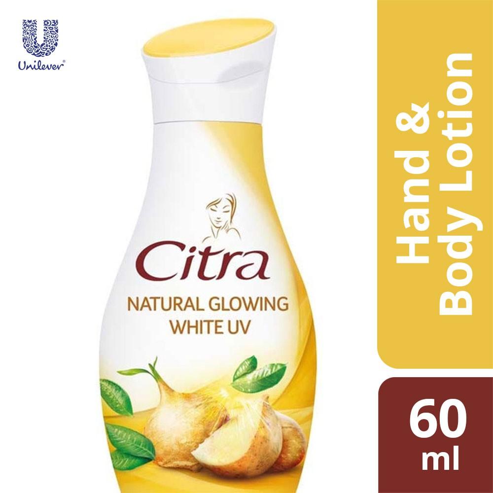 Citra Natural Glowing Bright UV Hand Body Lotion 60ml