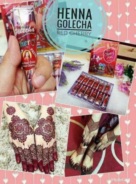 Inai Golecha Red Cherry (Harga untuk 1kon/pcs)