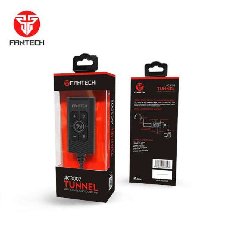 Fantech AC3002 Tunnel Virtual 7.1 USB Audio Sound Card