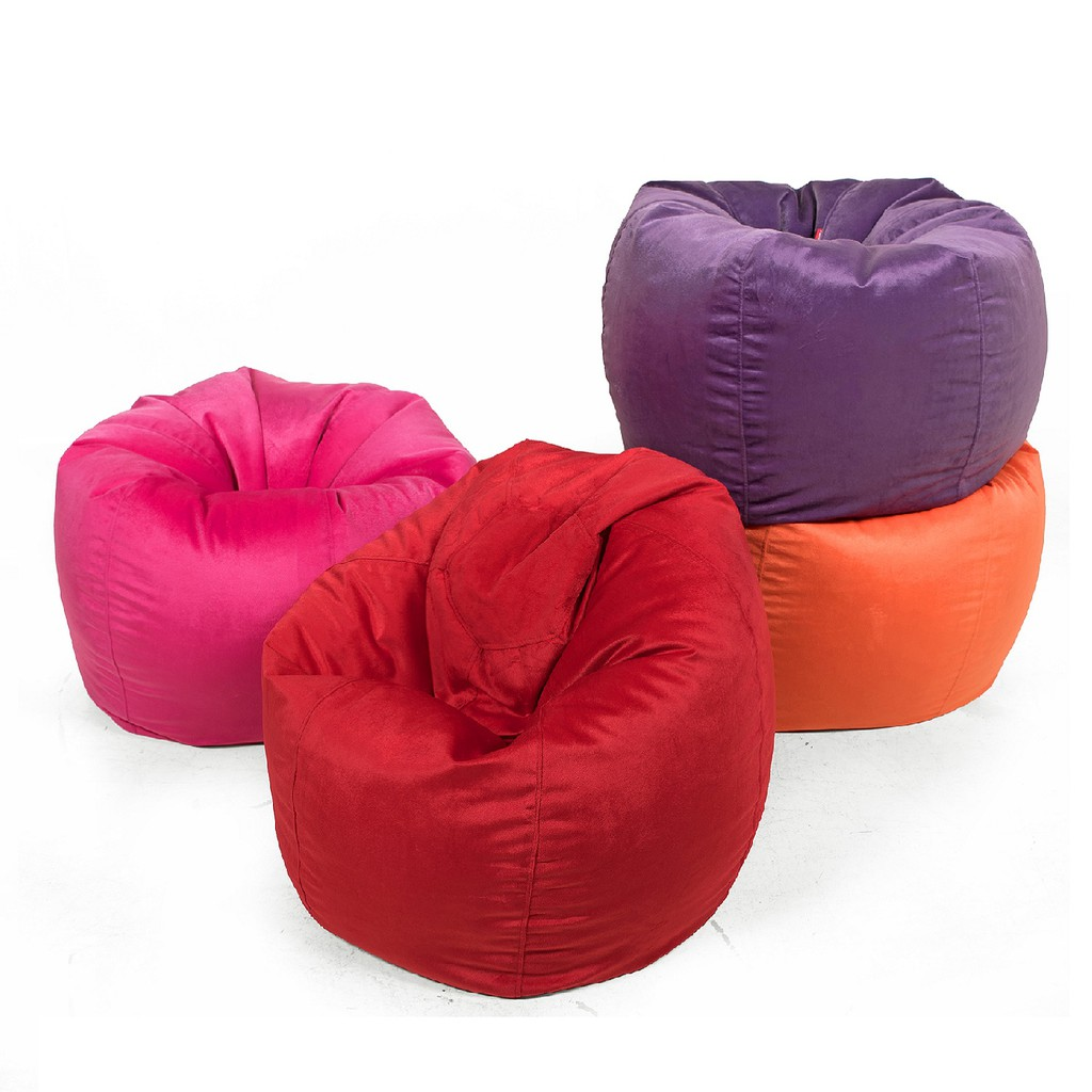 boss beanbag bean chair the pink textured purple bag
