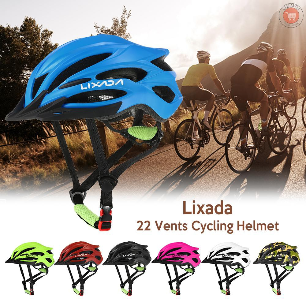♡ Lixada 22 Vents Ultralight Integrally-molded EPS Sports Cycling Helmet with Lining Pad Mountain Bike Bicycle Unisex Ad