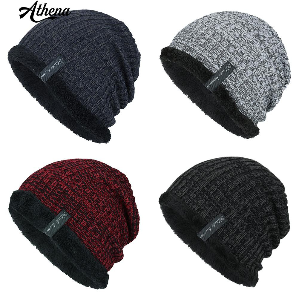 14b81ac6c30 Unisex Winter Marbled Warm Baggy Beanie Knit Crochet Oversized Hat Slouch  Cap