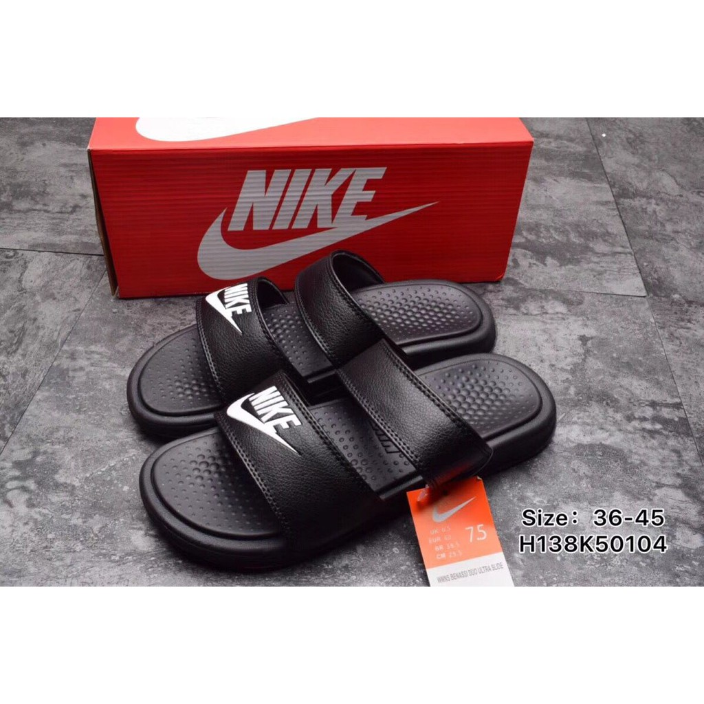 85db78e599c7  4 colors  NIKE BENASSI DUO ULTRA SLIDE Men sandals Wome slipper nike shoes