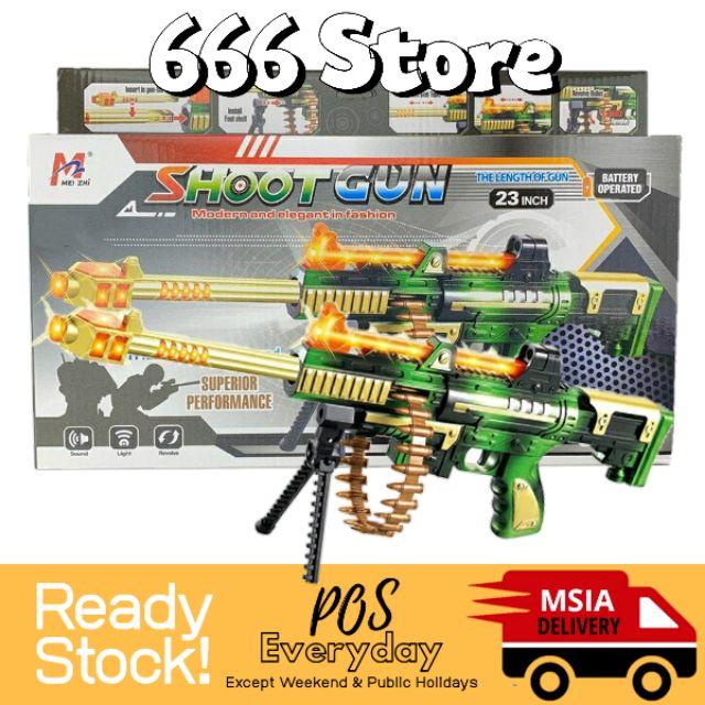 Toy Gun Machine Gun Shooter Electric Battery Toys Kids Light And Sound Ak47 Pubg Counter Strike 666 Store Shopee Malaysia