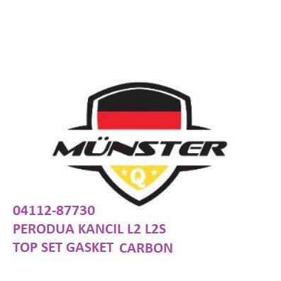 Münster Head Top Set Gasket 04112-87730 for Perodua Kancil Turbo L2 L2S (Carbon)