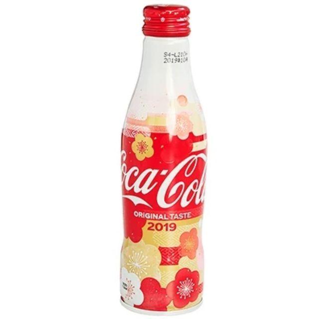 2019 Coca Cola Japan Limited Sakura /& Plum Blossom Aluminum Can 2 X full bottle