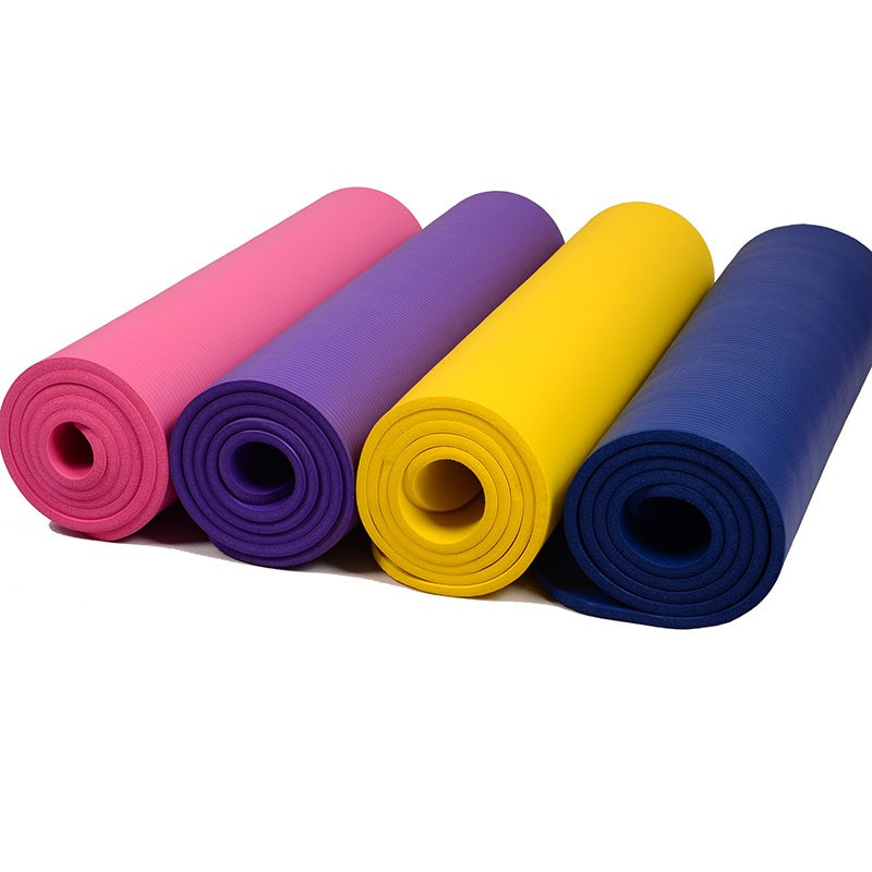 High Grade NBR 10mm Yoga Mat Gym Exercise Mat With Carry