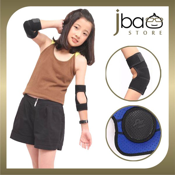 Aolikes Kid's Elbow Support Brace Guard Sport Dance Skate Protector (1Pair)