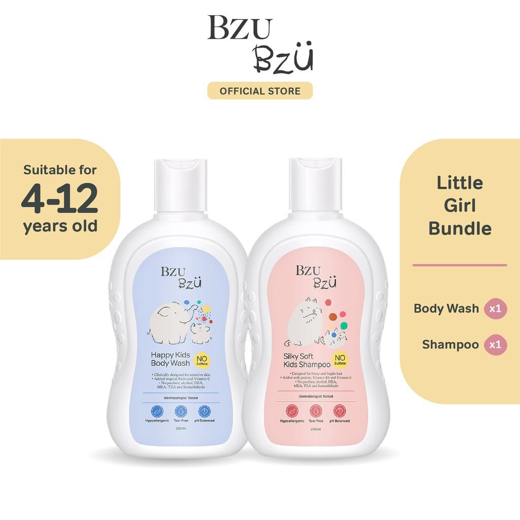 BZU BZU Little Girl Bundle - Silky Soft Kids Shampoo (200ml) + Happy Kids Body Wash (200ml)
