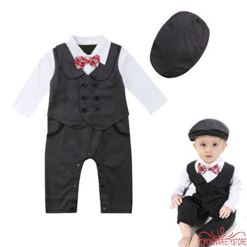 1383626cb Kid Baby Boy Gentry Clothes Set Formal Party Christening Wedding ...