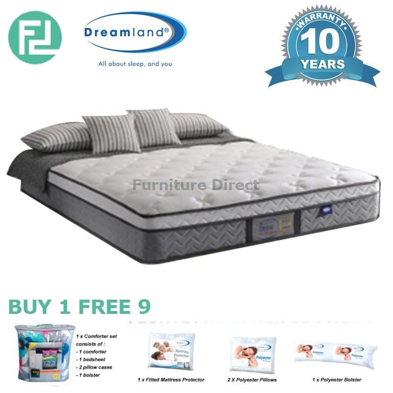 DREAMLAND CHIRO 12″ Miracoil hotel premium spring mattress