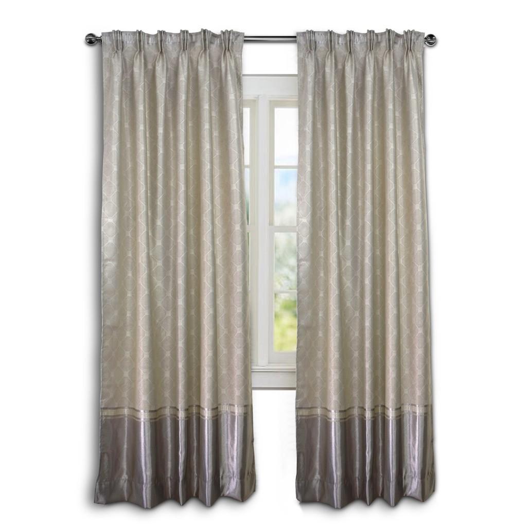 Hot Deal 2 Pieces Essina Eyelet Curtain 140cm W X 260cm L Silky Satin Sho Malaysia
