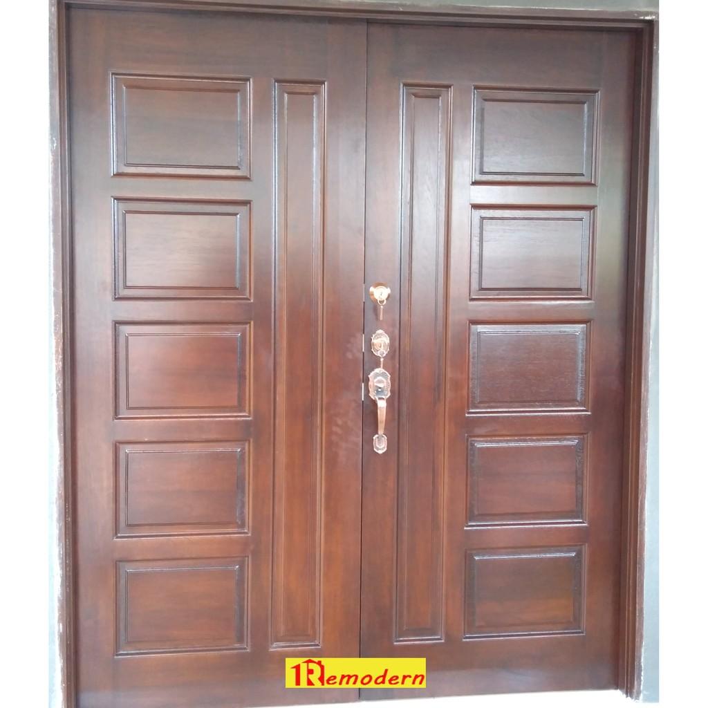 Rr47l Solid Mix Door Pintu Kayu