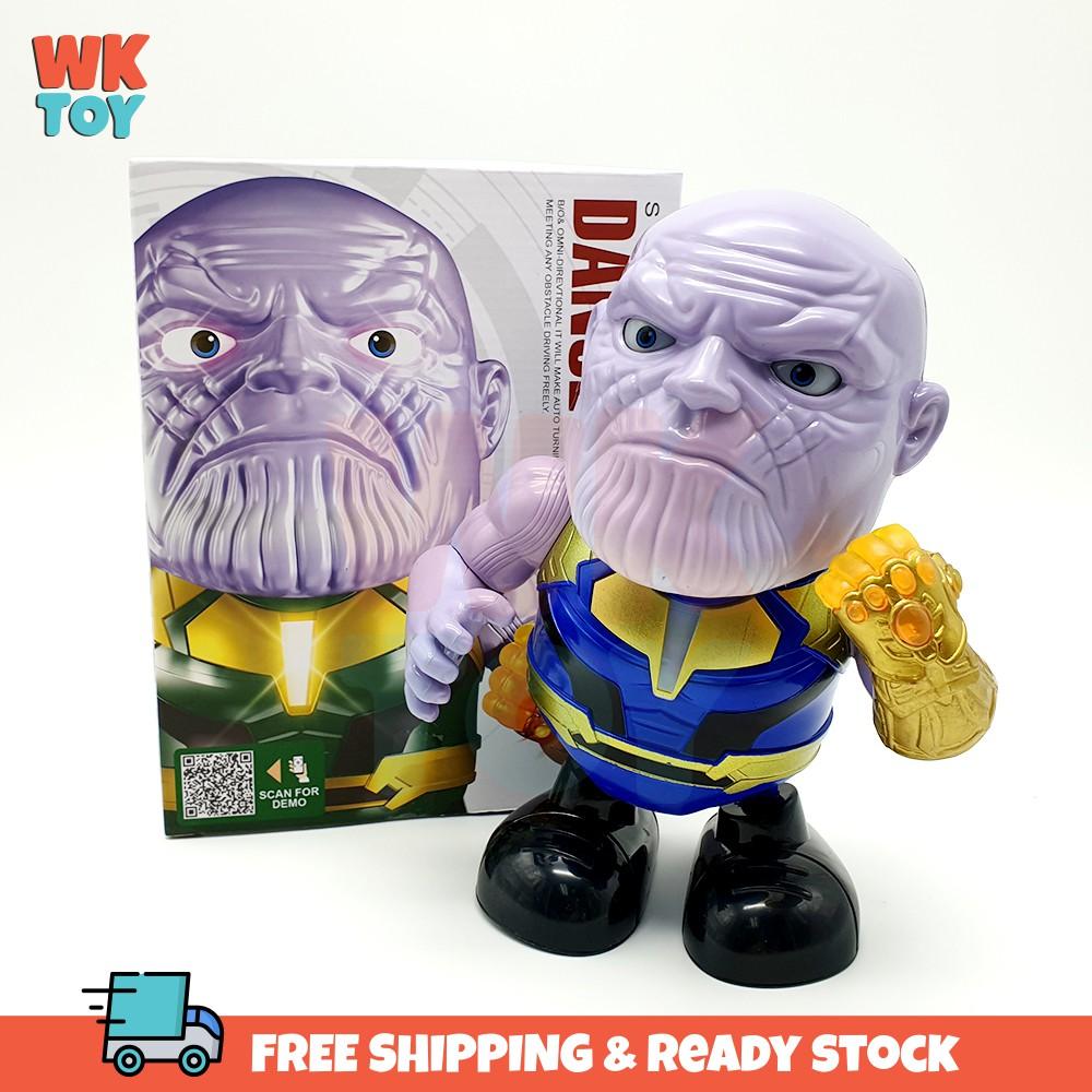 WKTOY Thanos SuperHero Luminous Dance Robot Kids Toy With LED Music Dance
