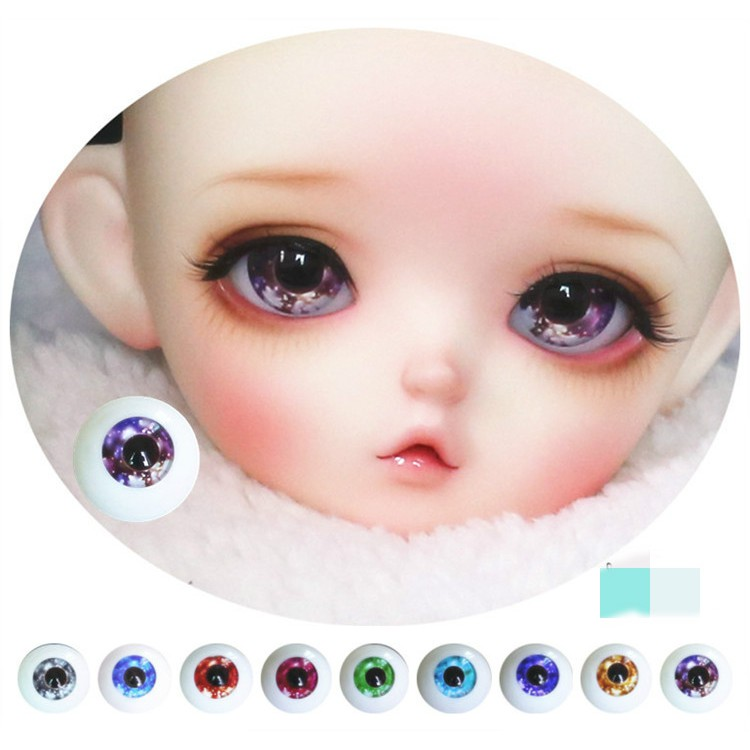 Pair of Acrylic Eyeball Safety Eyes For Mini Blythe Doll Replacement Parts