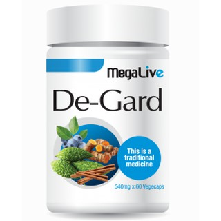 MegaLive De-Gard 60 capsules Good for nerve and cells combination of 4 types natural ingredients includes Curcumin, Bitter Melon Extract, Cinnamon Extract and Bilberry Powder Extract, helps to promote normal cell cycle activity and healthy metabolism.
