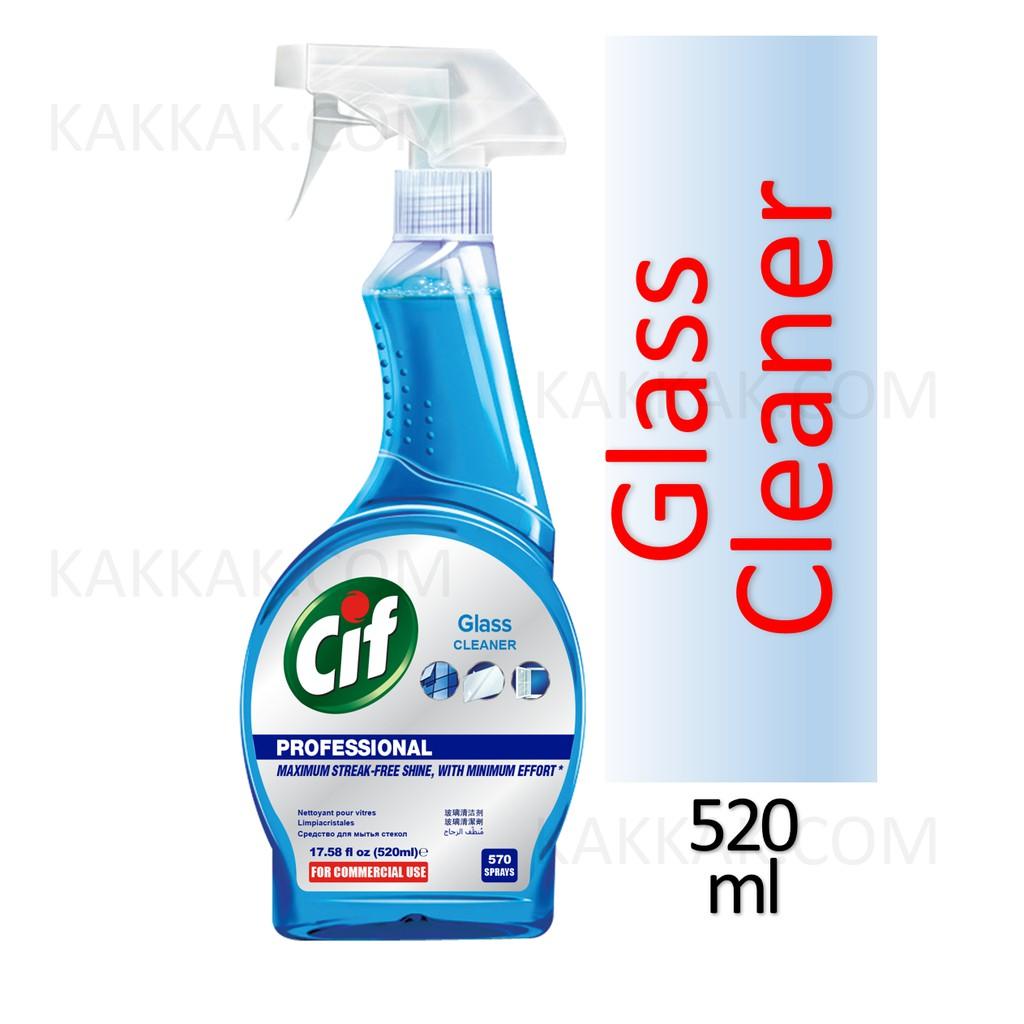 Cif Professional Glass & Window Cleaner Spray 520ml