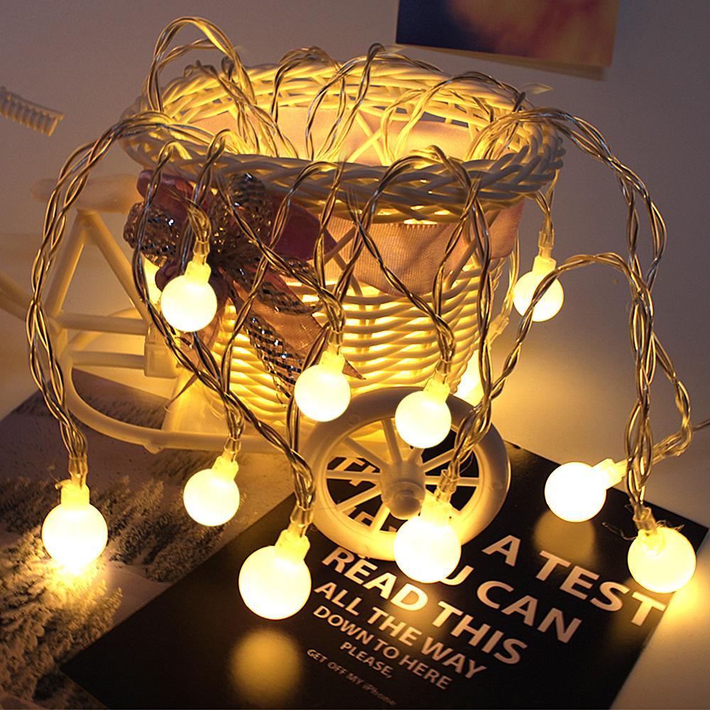 newest 5e7e6 260d6 Led Garland Battery Led Fairy Christmas Tree Lights Warm White Decoration