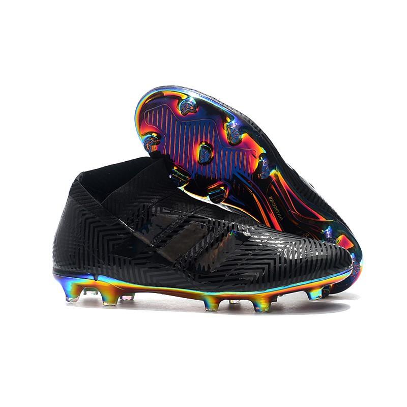 najlepiej tanio wybór premium dobra jakość ✨carry💕Men's shoes adidas Nemeziz 18+ no LACES black plating FG football  shoes 39-45