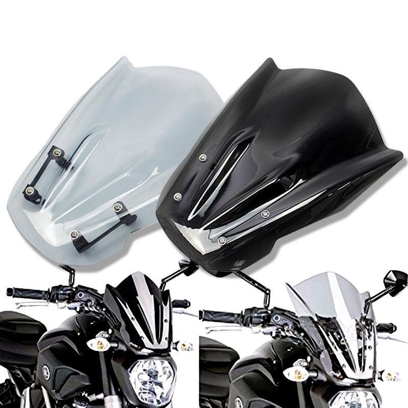 Motorcycle Windshield WindScreen For Yamaha MT07 FZ07 2013-2017 2015 2016