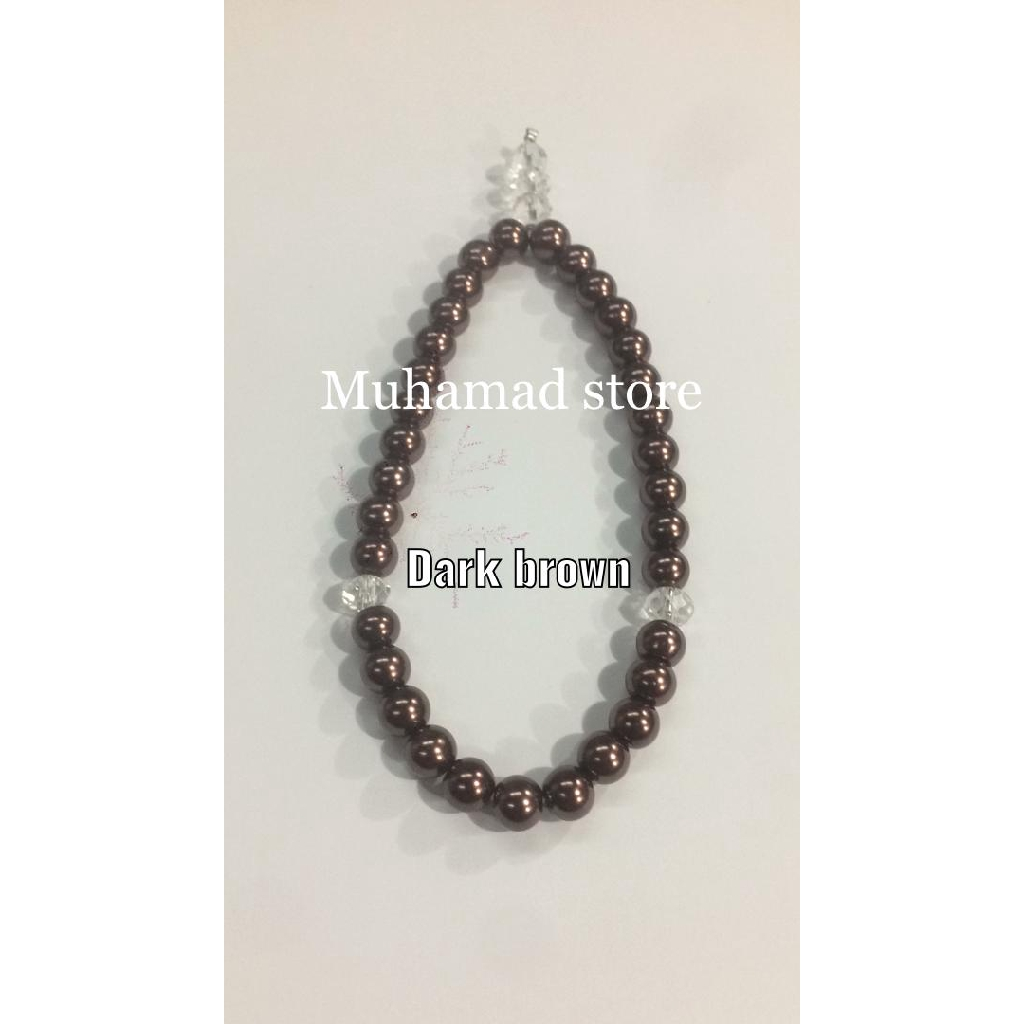 Tasbih Mutiara (Grey) berkilat & Pelbagai Warna Pilihan