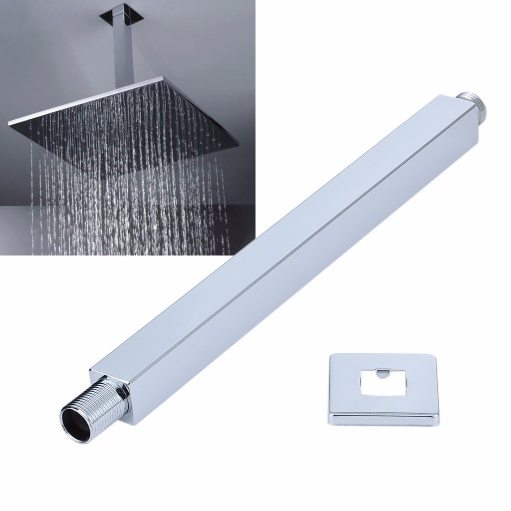 Home Plumbing Fixtures 14 35cm Square Chrome Wall Mounted