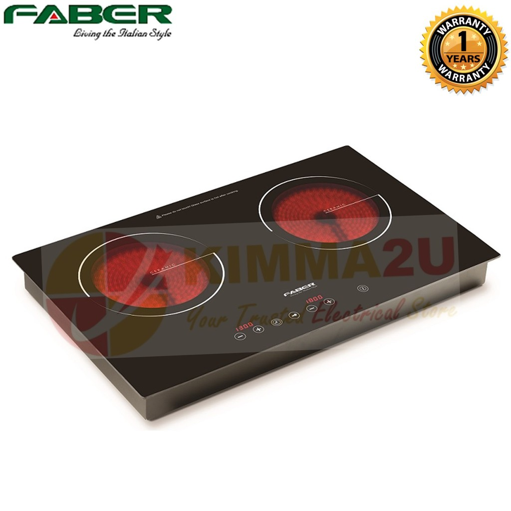 Faber Built In Double Electric Ceramic Cooker Hob Fch 3c 69bk Kic Stove Wiring Diagram Shopee Malaysia