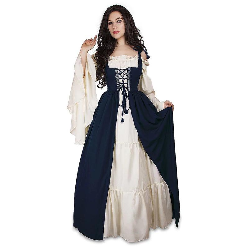 99abc24f5c5d4 2245009906967 2019 Autumn Bandage Victorian Ball Gown Dress Vintage  Renaissance