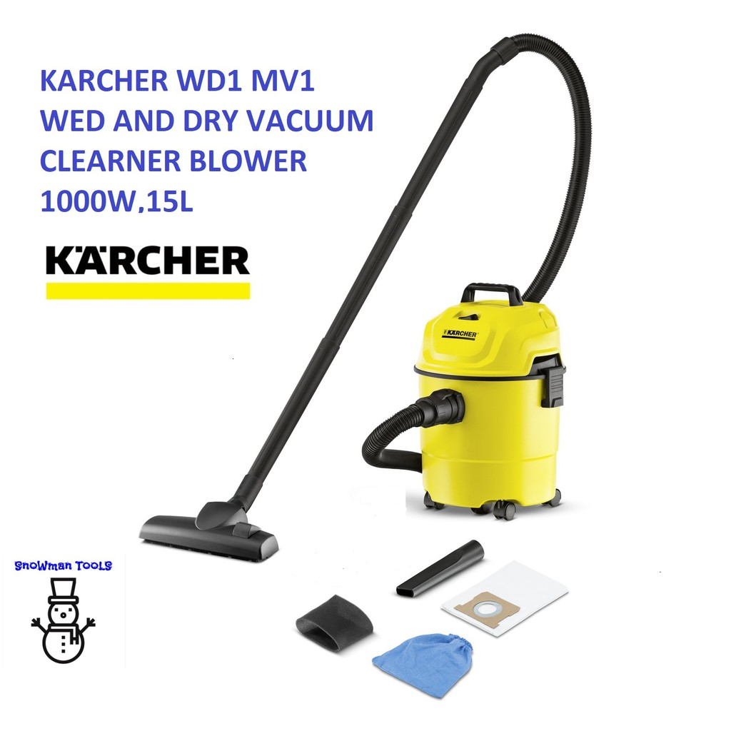 KARCHER WD1 MV1 WET AND DRY VACUUM CLEANER AND BLOWER 1000W,15L