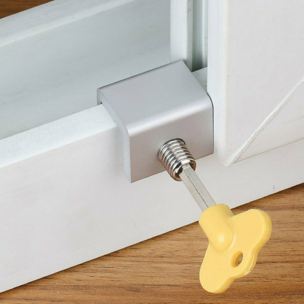 UK Move Window Child Safety Protection Sliding Window Lock Security Sash Stopper