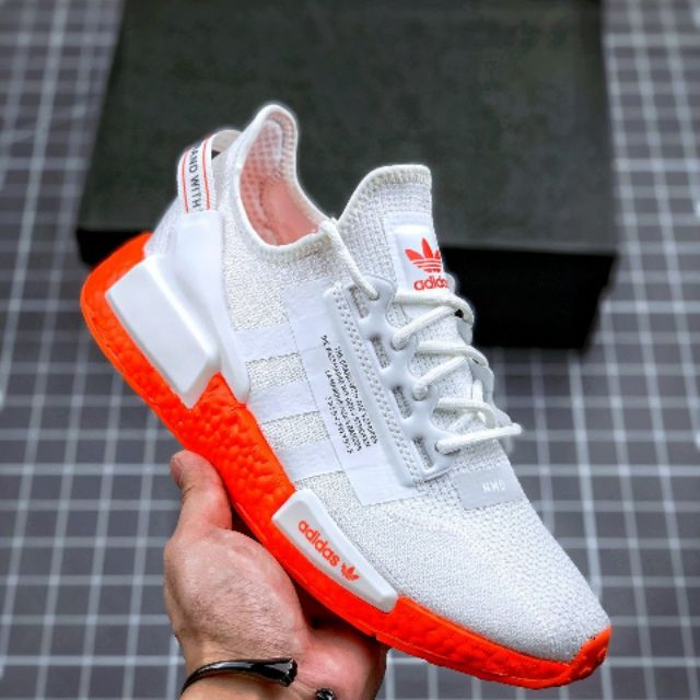Latest Shoes Adidas Nmd R1 V2 White Orange Fx3902 36 44