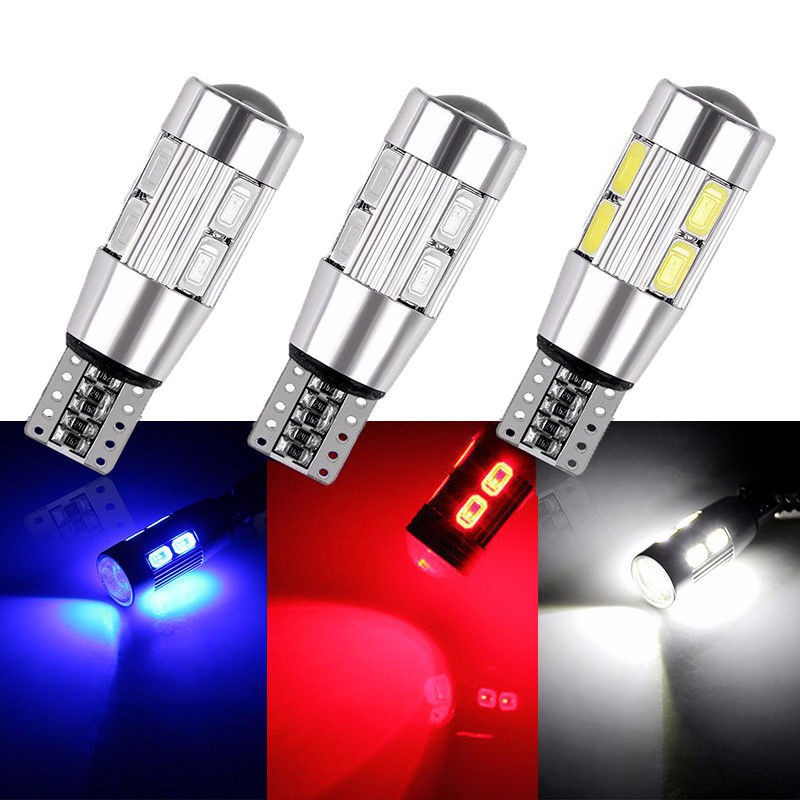 4 x 9 WHITE SMD LED 501 T10 W5W WEDGE CANBUS NO ERROR FREE SIDE LIGHT BULB