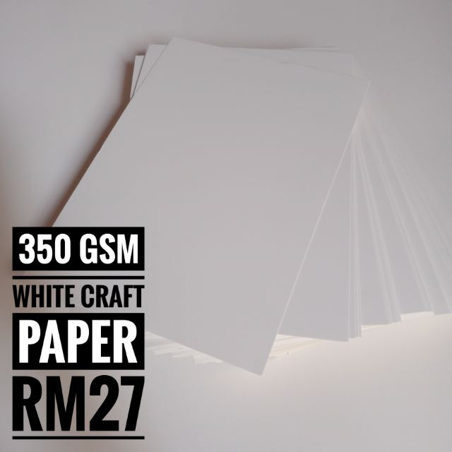 350gsm A4 Craft Plain White Thick Cardboard Diy Art Paper 20 50 Sheets