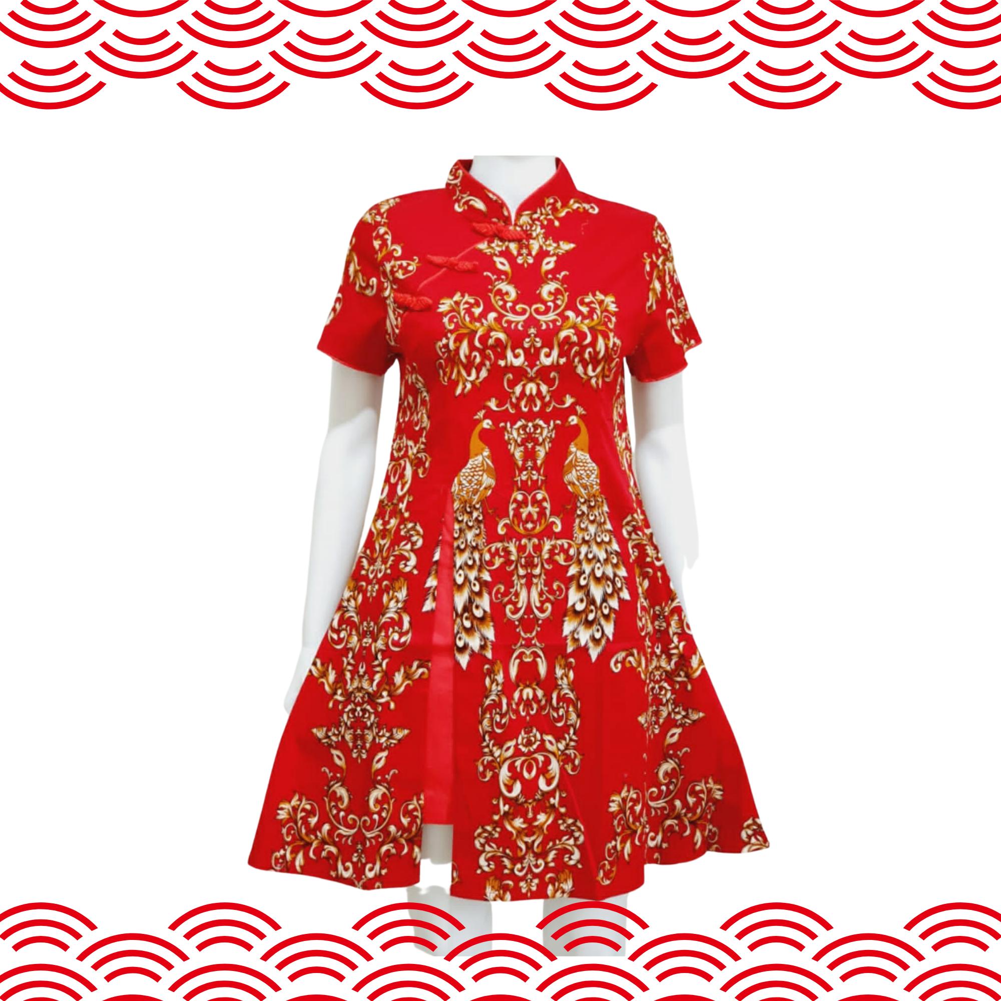 Cheongsam Dress Red 851C