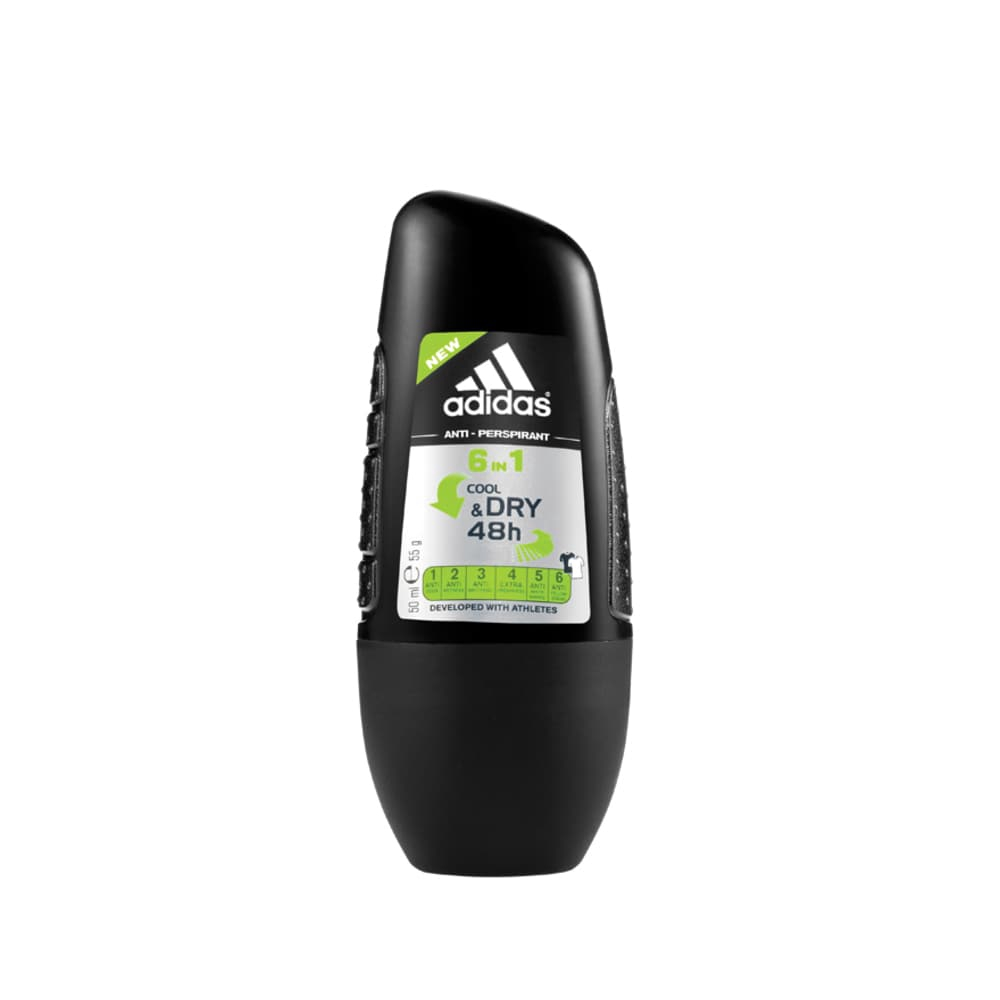 Adidas Men's Roll On Deodorant 6 In 1 (50ml)