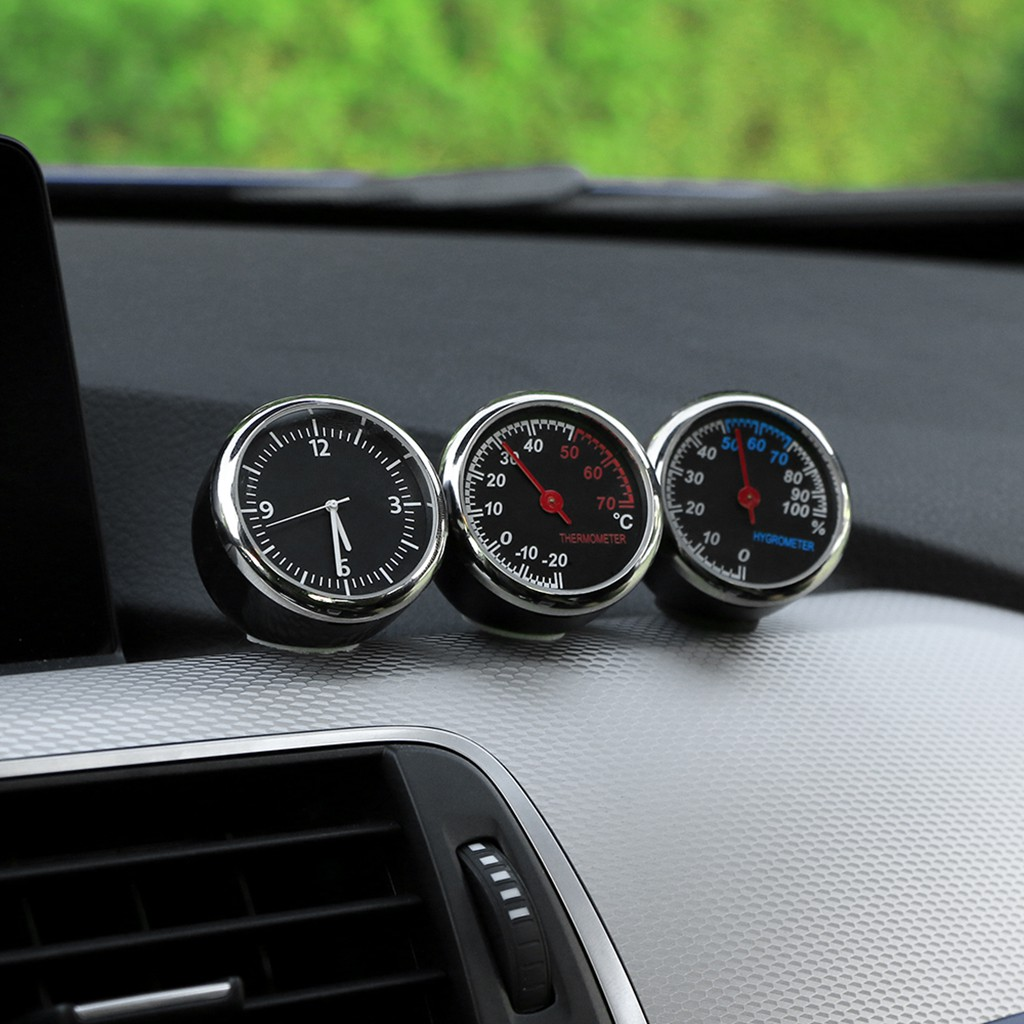 Luminous Thermometer Hygrometer Car Ornaments Mini Automobile Air Vent Clip Car Styling Decoration Interior Accessories Thermometer Car Cradles