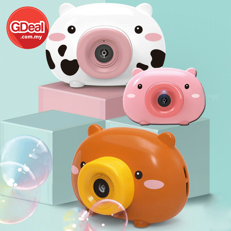 GDeal Children Toy Cartoon Bubble Camera Machine With Sound And Light Permainan Buih ڤرماءينن بوءيه