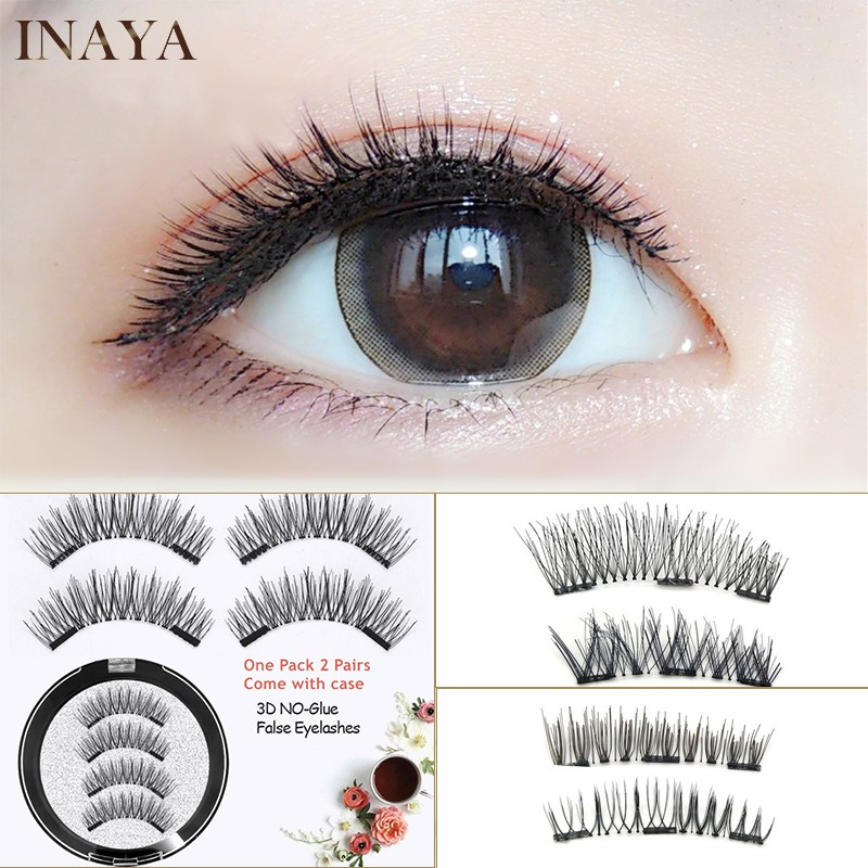 bc0b0c2c628 lashes Natural Extension Handmade 4 Pcs/2 Pairs 3D Magnetic False Eye |  Shopee Malaysia